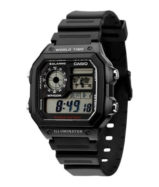 Dong ho Casio AE 1200WH 1AVDF 1989watch 2