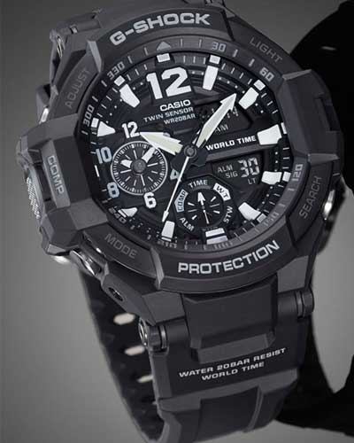 dong ho casio g shock chinh hang GA 1100 1A 2 1