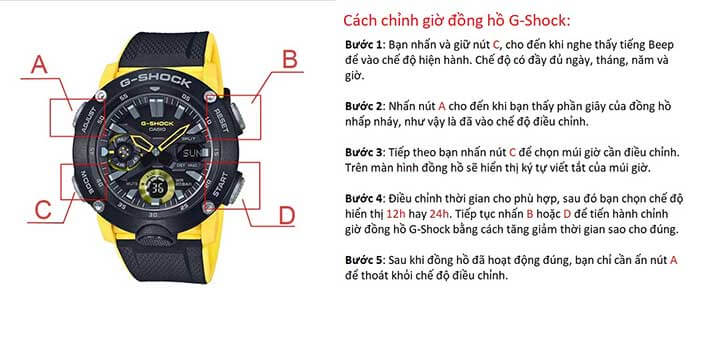 cac chinh gio dong ho gshock 1989W2 1