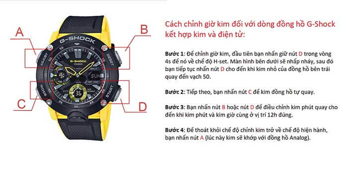 cach chinh gio kim dong ho gshock 1989W4 1